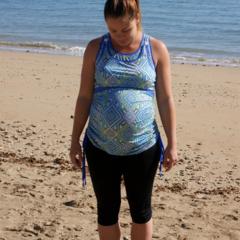 Maternity Swim Top - Breastfeeding Friendly - Size Medium