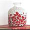 Red Poppy Mosaicked vase or decorator piece