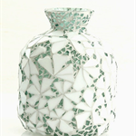 Mosaicked vase or decorator piece