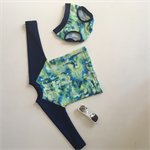 Green and Navy Baby Swim Set - Size 0 - 6-12 months