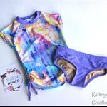 Pastel Grunge Tween Rashie Set - Size 9