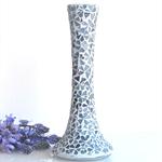 Shades of Blue  Mosaic vase