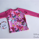 Butterfly Rashie Swim Top - Size 1 - UPF50+