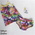 Colourful Hydrangea Tankini Set - Size 9