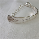 Bracelet made from vintage silver plated spoon handle