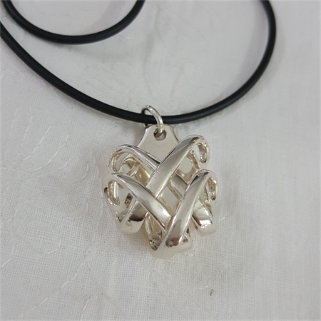 Pendant necklace made from a vintage silver plated fork