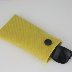 Velvet Sunglasses, Glasses, Pouch, Case, Bag- Yellow