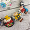 Snoopy and Friends - Button Fusion Necklace - Jewellery - Earrings - polymer