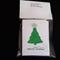 Pack of 10 Handmade  Australian Embossed  Foil Christmas Tree Gift  Cards