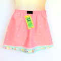 Girls Pink Monster Skirt - sizes 0 to 5 avail - cute, quirky, rainbow