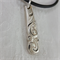 Pendant made from vintage silver plated spoon handle