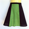 Black and Green Ladies A Line Skirt - sizes 8 - 18 avail - floral, paisley, 70's