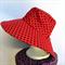 Retro Red Polka Dot Reversible Sun Hat - Girls / Ladies sizes - spot, black