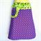 Green & purple reversible skirt - Ladies sizes 8 to 14 - pocket, paisley, flower