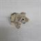 Alpaca fibre art piglet