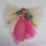 Alpaca Fibre Art needle felted Fairy