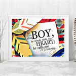 "Affirmation Print "" So There's this boy"" - Art Print, Boys Nursery Art,"