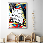 "Affirmation Print "" Thank Heaven for Little Boys"" - Art Print, Boys Nursery Art"