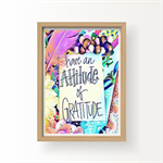 "Affirmation Print "" Attitude of Gratitude"" - Art Print, Nursery Art, Girls room"