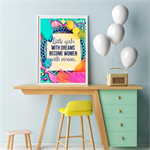"Affirmation Print "" Little Girls with Dreams"" - Art Print, Nursery Art"