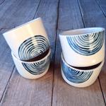 Waves Green tea cup