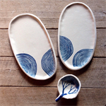 Ceramic waves platter