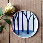 Blue forest side plate