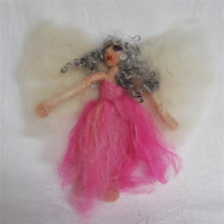 Alpaca Fibre Art needle felted Fairy