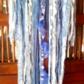 Dream Catcher Denim Sea Glass Blue Shabby Chic Ribbon Beads Pendant Gift