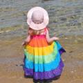Rainbow Twirly Dress. Size 5 - 7