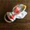 Natural Wooden Teething Ring - Coral Cloud Design