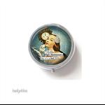 Round trinket box, silver trinket case