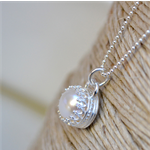 Freshwater Pearl & Sterling Silver Crown Set Necklace