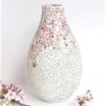 Pink Blossom Mosaic vase..