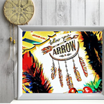 "Affirmation Print "" Follow your Arrow"" - Art Print, Boys Room, Nursery Art,"