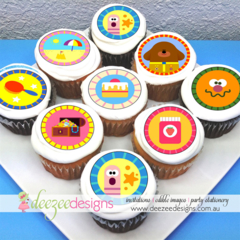 "Hey Duggee Edible Icing Cupcake Toppers - 2"" - PRE-CUT - EI086C"