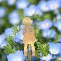 Brass Girl with Flowers Garden Decoration