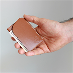 Slim Minimal Kangaroo Leather Cards & Cash Sleeve - 'One dot 8'; Men's Wallet