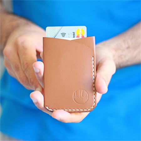 Slim Minimal Kangaroo Leather Card Holder - The 'Two' Pocket; Men's Wallet