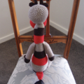 Gilbert: Hand crocheted soft toy Giraffe: Unisex, safe, OOAK, washable