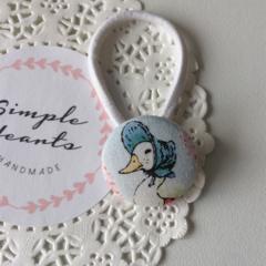 Jemima Puddle Duck  hair tie, pony trail tie, hair elastic
