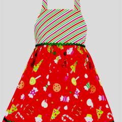 "CHRISTMAS SALE Size 1 - ""Red Treats"" Xmas Dress"