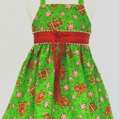 CHRISTMAS SALE -Size 6 - 9 Months - Gingerbread Xmas