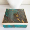 Jewellery Box - Aqua and Gold