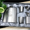 Personalised Engraved Stainless Steel Hip Flask Set - Will You Be My Groomsmen