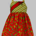"CHRISTMAS SALE -Size 1 - ""Green Trees"" Xmas Dress"