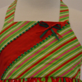 "CHRISTMAS SALE -Size 1 - ""Green Trees"" Xmas Dress"