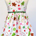 CHRISTMAS SALE -Size 6 to 9 months - Xmas Treats dress