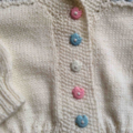 Baby Cardigan - White, Pink, Blue with Shawl Collar