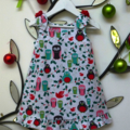 CHRISTMAS SALE Size 1 - Penquins and Owls Christmas Dress